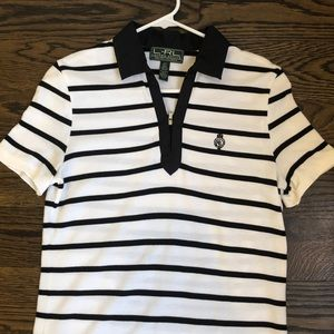 Ralph Lauren Active Polo Black and White Stripe